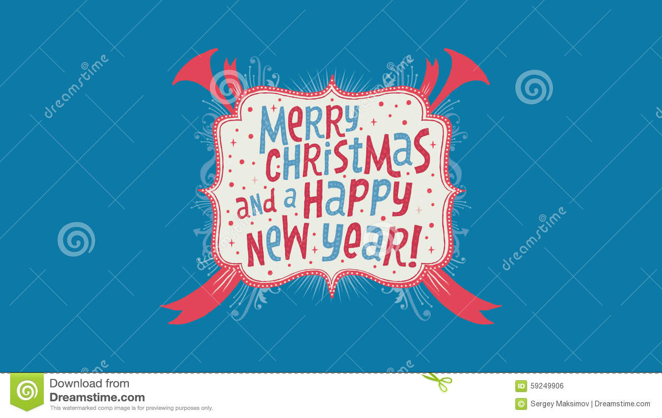 Merry Christmas And A Happy New Year Full Hd Video Clip Stock