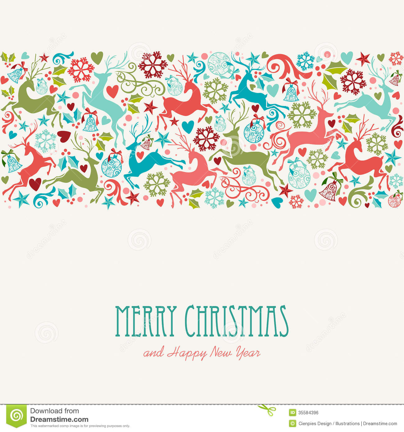 Merry christmas and happy new year greeting card stock vector merry christmas and happy new year greeting card kristyandbryce Choice Image