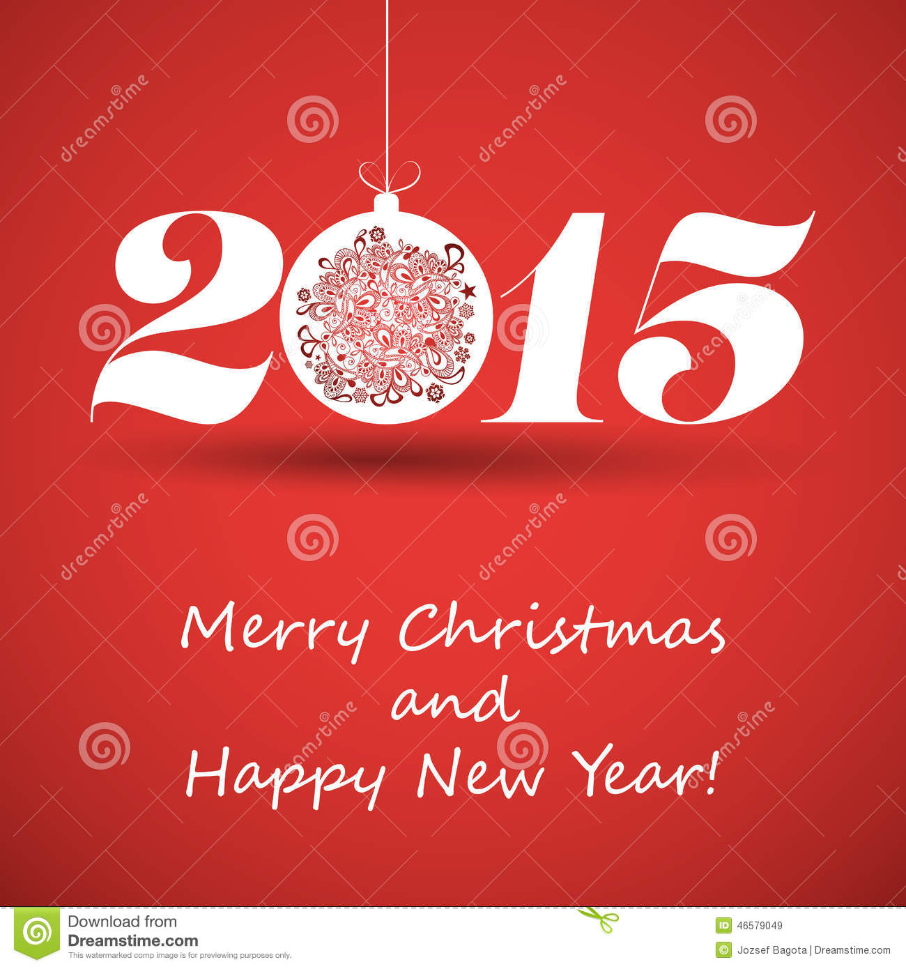 Merry christmas and happy new year greeting card 2015 stock vector merry christmas and happy new year greeting card 2015 kristyandbryce Image collections