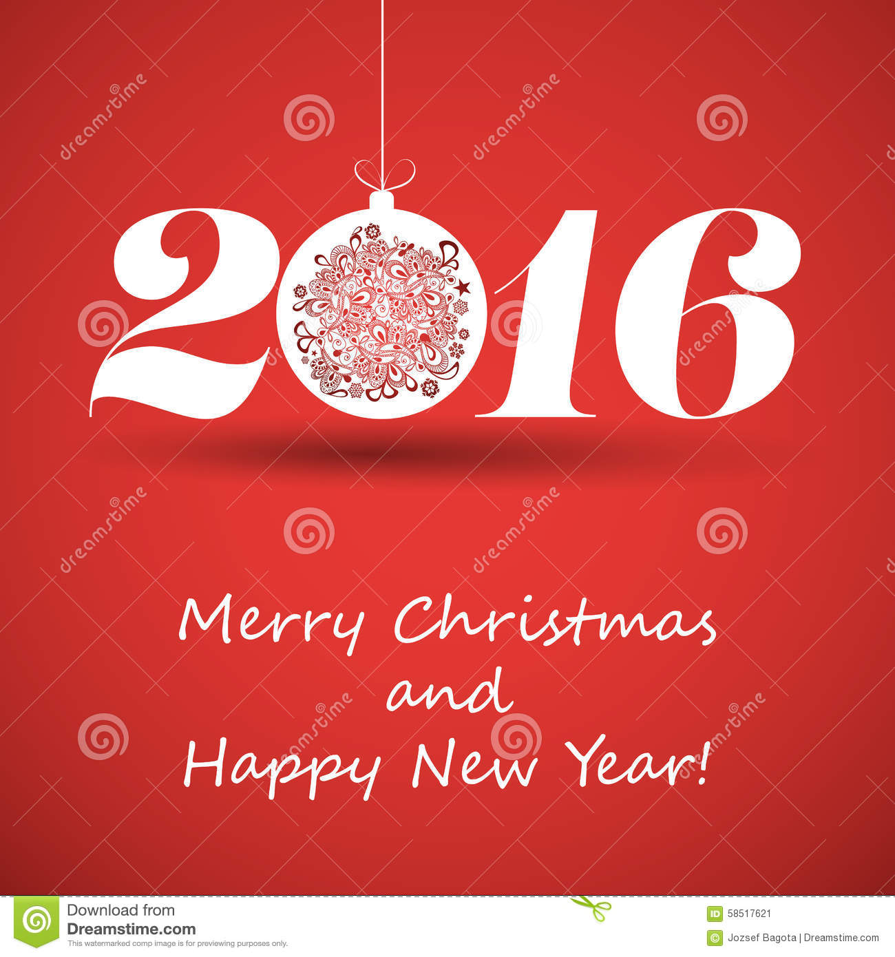 merry christmas and happy new year greeting card creative design template 2016