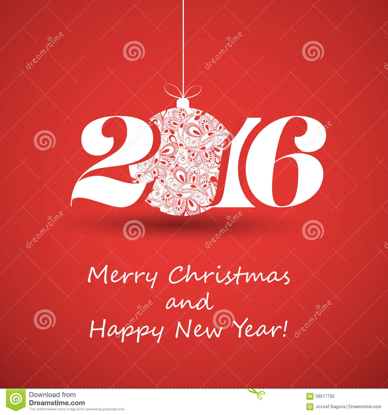 Merry Christmas And Happy New Year Greeting Card Creative Design – New Year Greeting Card Template