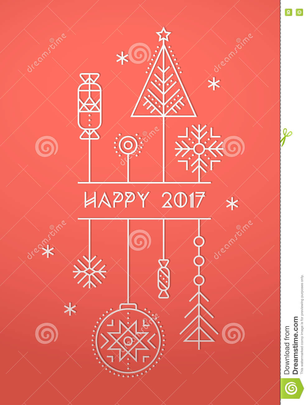 Merry christmas and happy new year greeting card template stock merry christmas and happy new year greeting card template m4hsunfo