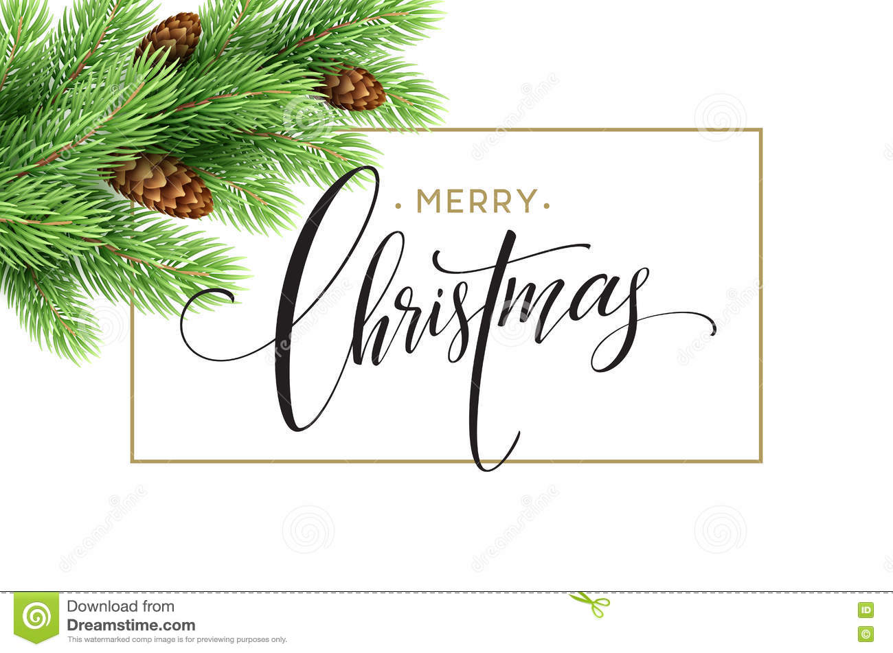 Merry Christmas And Happy New Year 2017 Greeting Card Vector