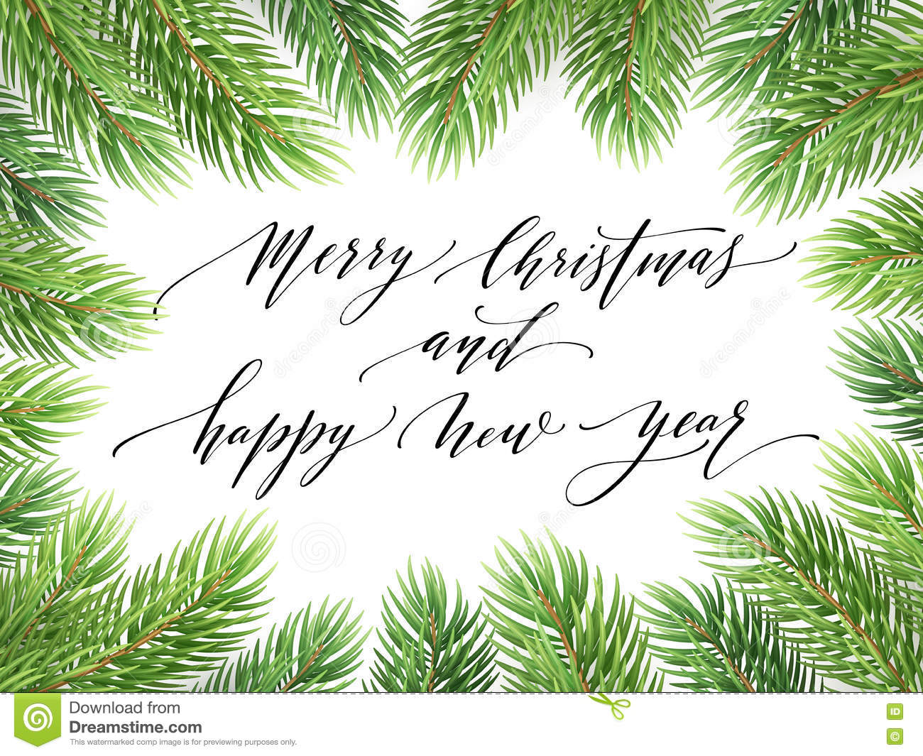 Merry Christmas And Happy New Year 2017 Greeting Card, Vector ...