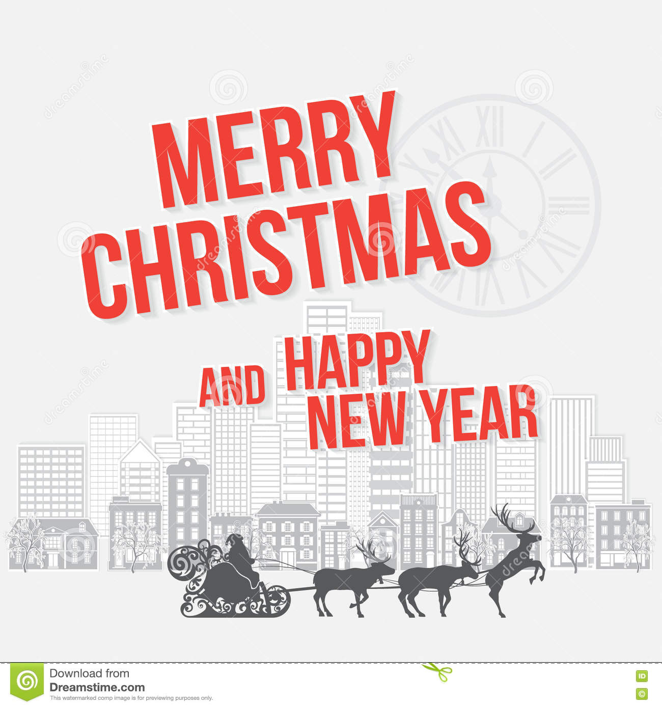 Merry christmas and happy new year greetings card stock illustration download merry christmas and happy new year greetings card stock illustration illustration of greeting m4hsunfo