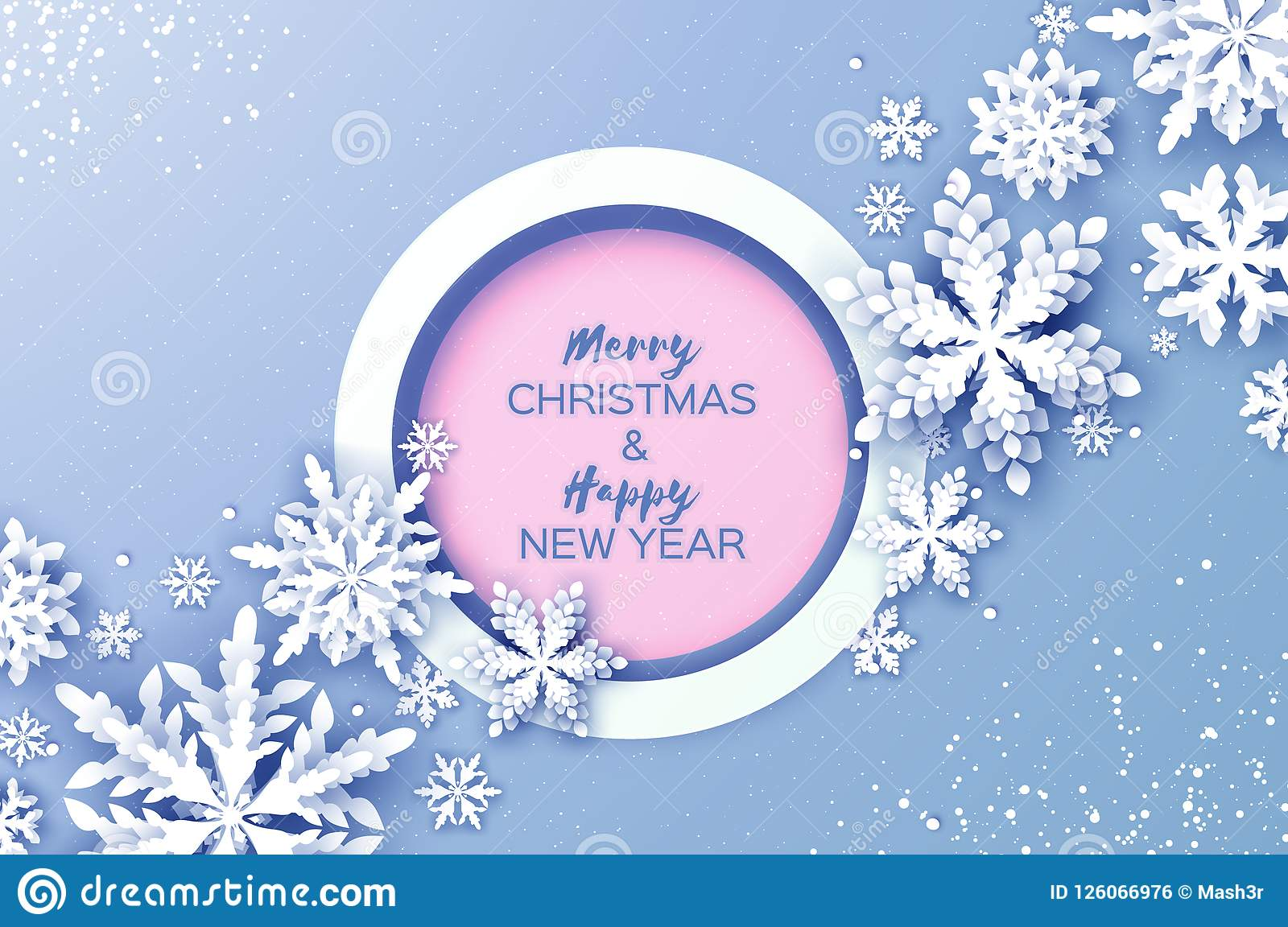 Merry christmas and happy new year greetings card white paper cut download merry christmas and happy new year greetings card white paper cut snowflakes origami m4hsunfo