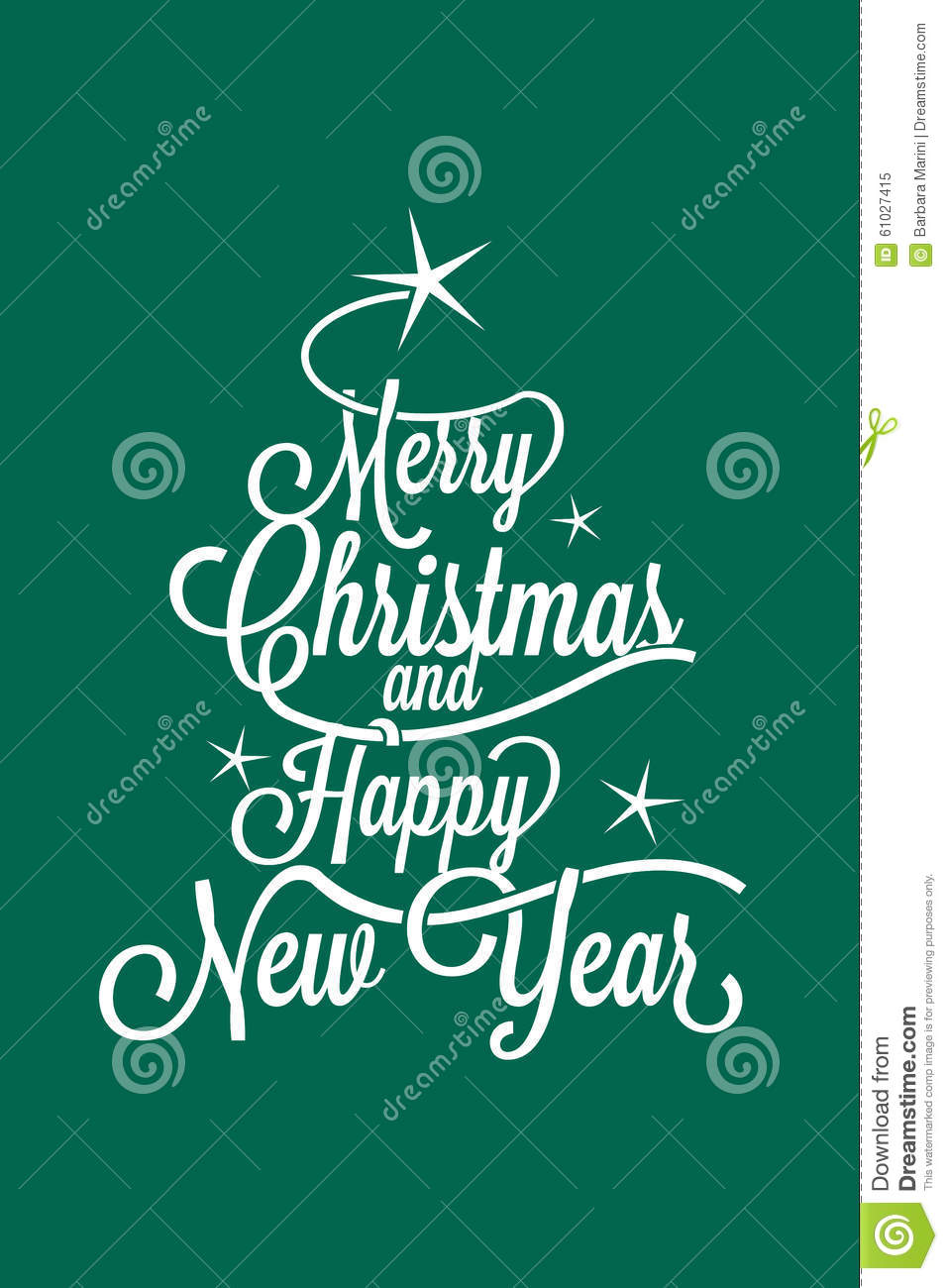 Merry Christmas And Happy New Year Greetings Postcard Stock Vector ...