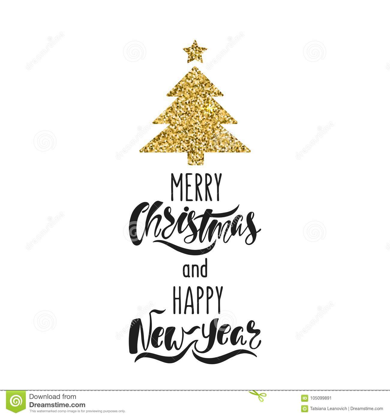 merry christmas and happy new year hand drawn calligraphy text holiday typography design with glitter christmas tree stock vector illustration of glossy merry 105099891 https www dreamstime com merry christmas happy new year hand drawn calligraphy text holiday typography design glitter tree black gold greeting image105099891