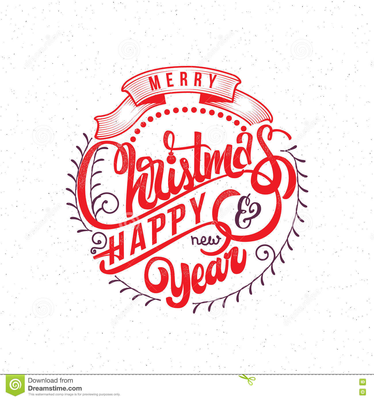 merry christmas and happy new year 2017 hand lettering text handmade vector calligraphy for your design illustration 78771479 megapixl