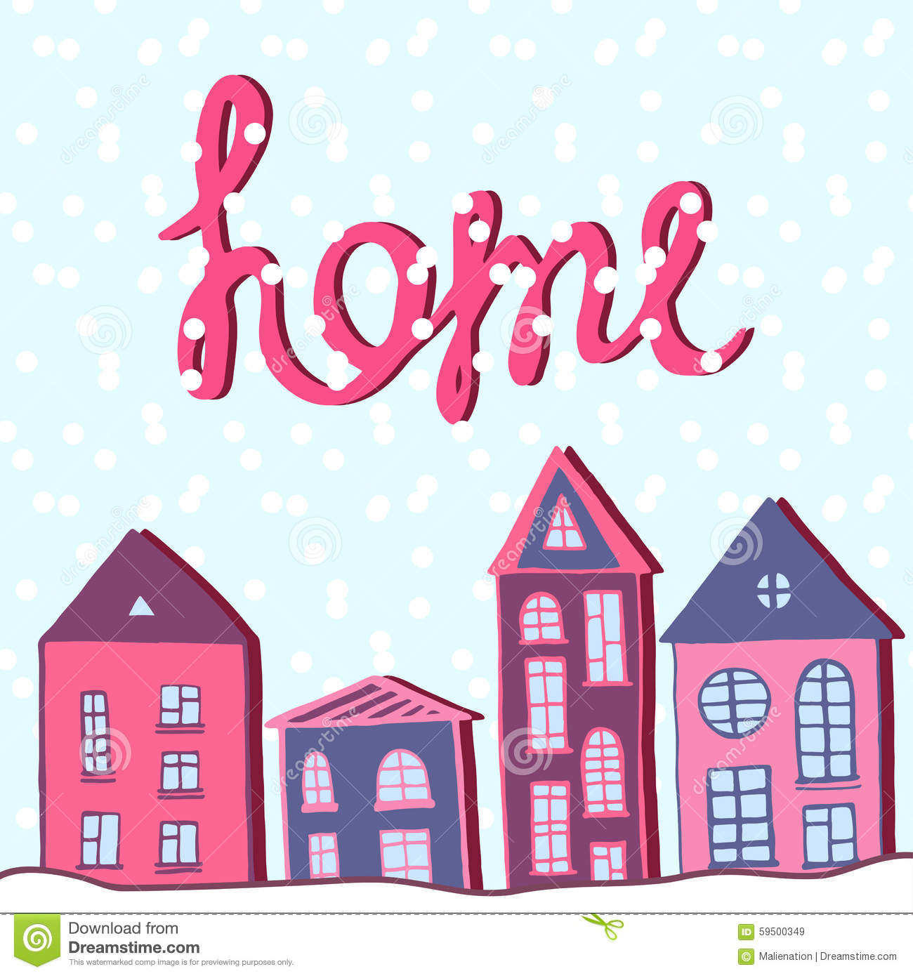merry christmas and happy new year home holiday winter street with snow vector
