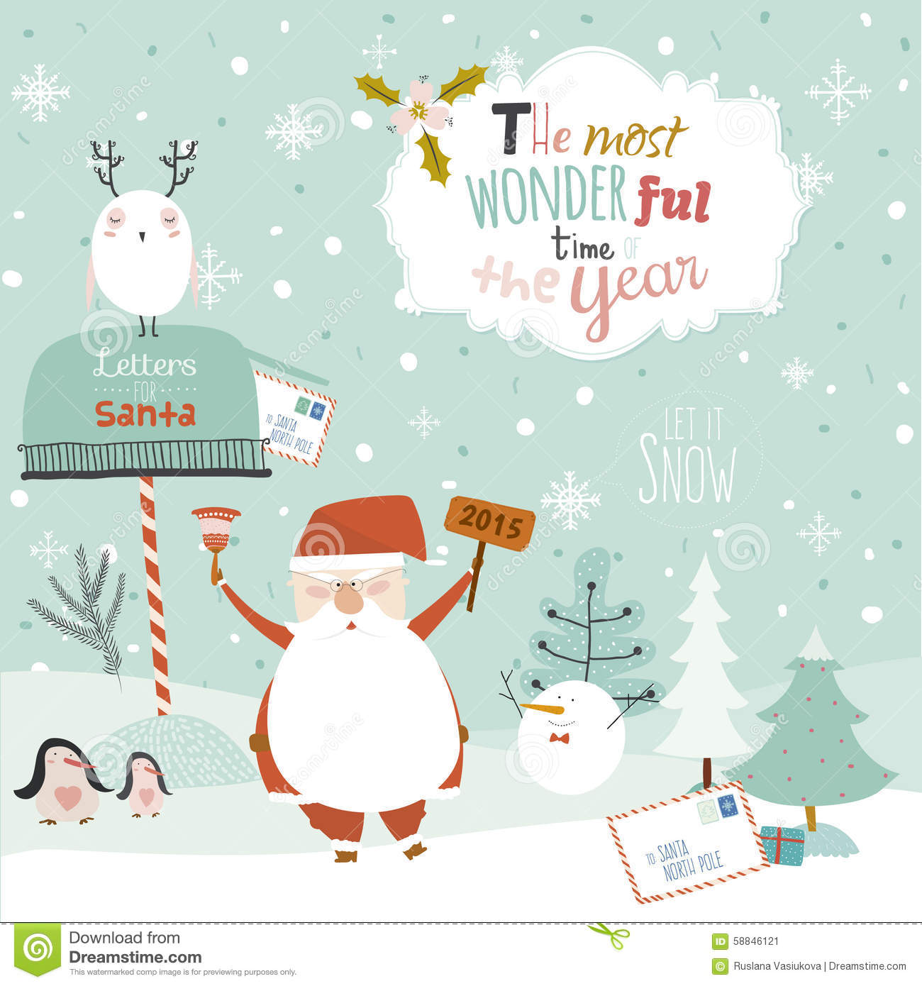 Merry Christmas Illustration: Merry Christmas And Happy New Year Illustration Stock