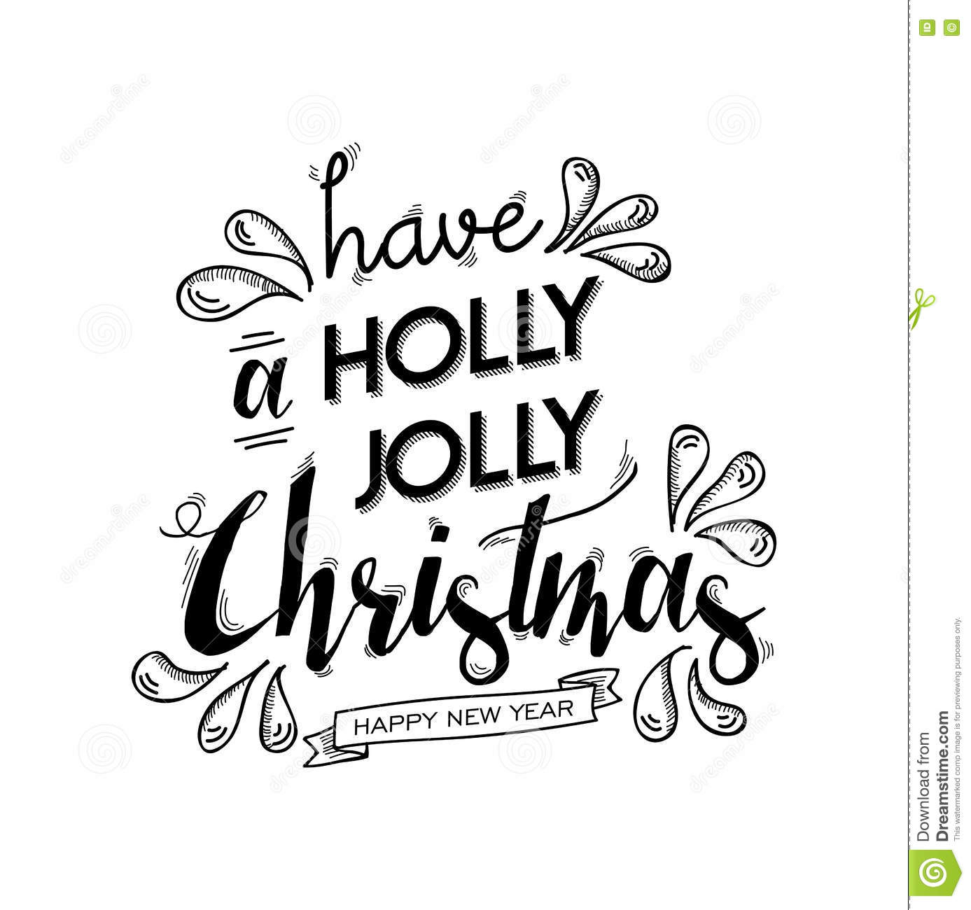 Merry Christmas And Happy New Year Lettering Art Stock Vector ...