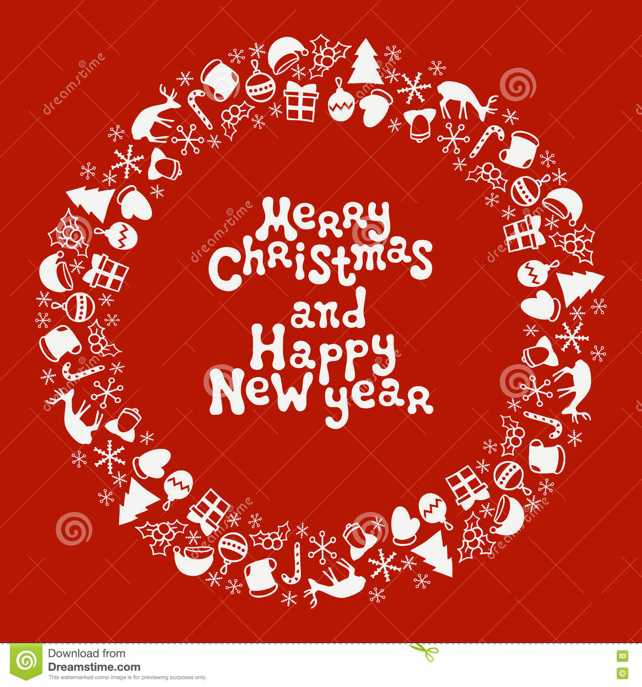 Merry christmas and happy new year lettering greeting card 2017 merry christmas and happy new year lettering greeting card 2017 christmas season hand drawn pattern vector letter illustration kristyandbryce Images