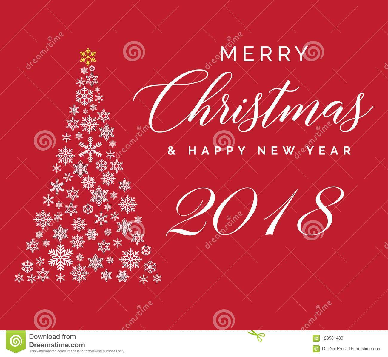 download merry christmas and happy new year 2018 lettering template greeting card or invitation