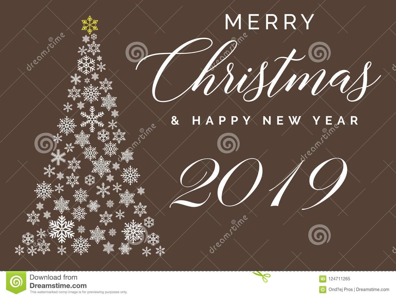 Christmas Images 2019 Download.Merry Christmas And Happy New Year 2019 Lettering Template