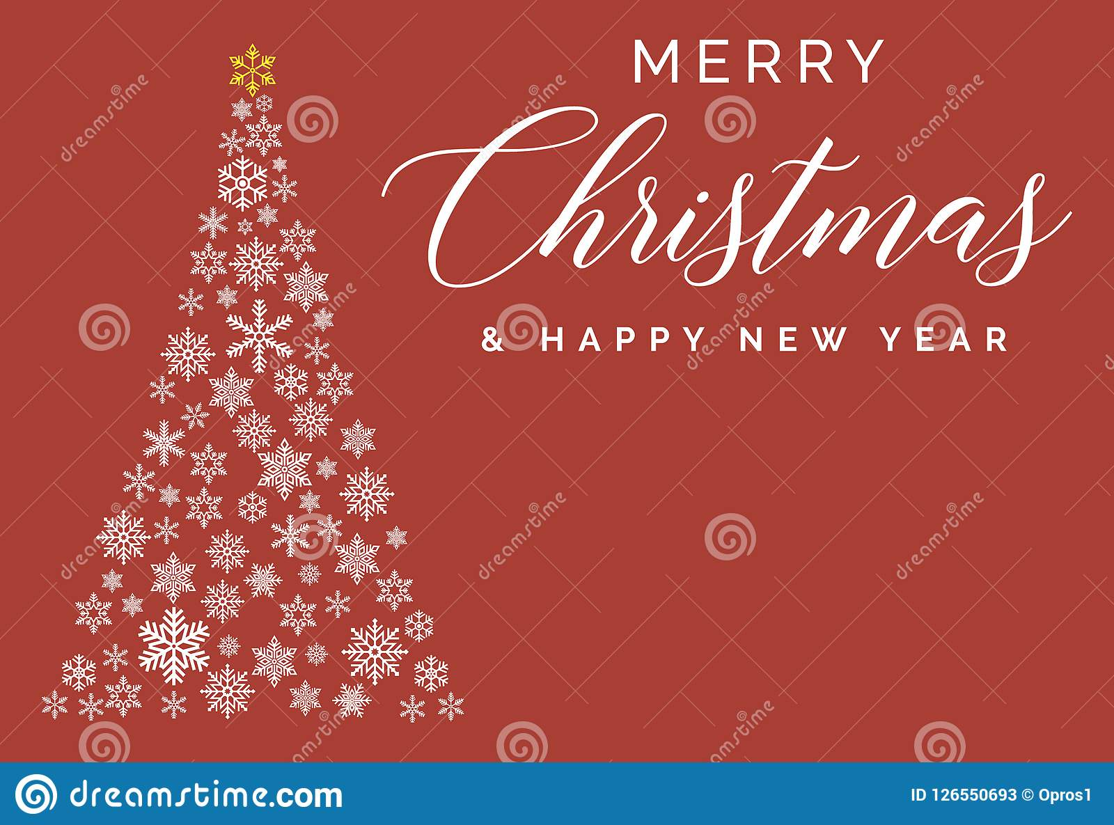 merry christmas and happy new year lettering template greeting card or invitation winter holidays