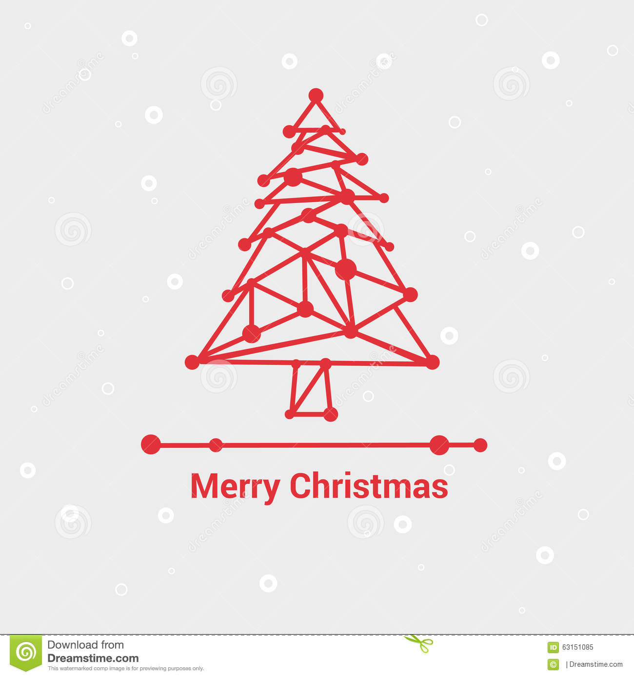 merry christmas and happy new year line minimalist style greeting