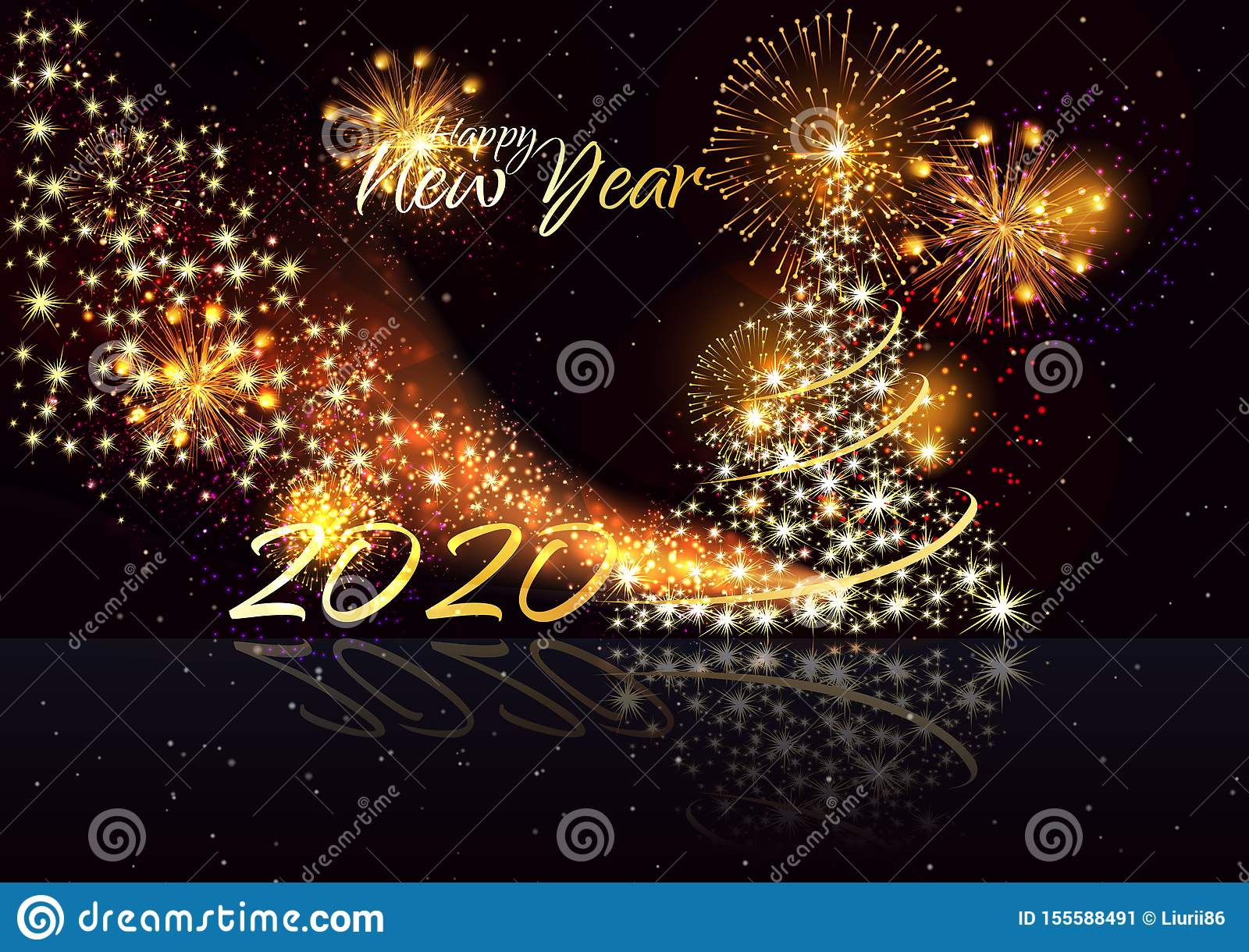 merry christmas and happy new year happy new year 2020 marry christmas background with gold 2020 vector stock illustration illustration of collection firework 155588491 https www dreamstime com merry christmas happy new year marry background gold vector illustration image155588491