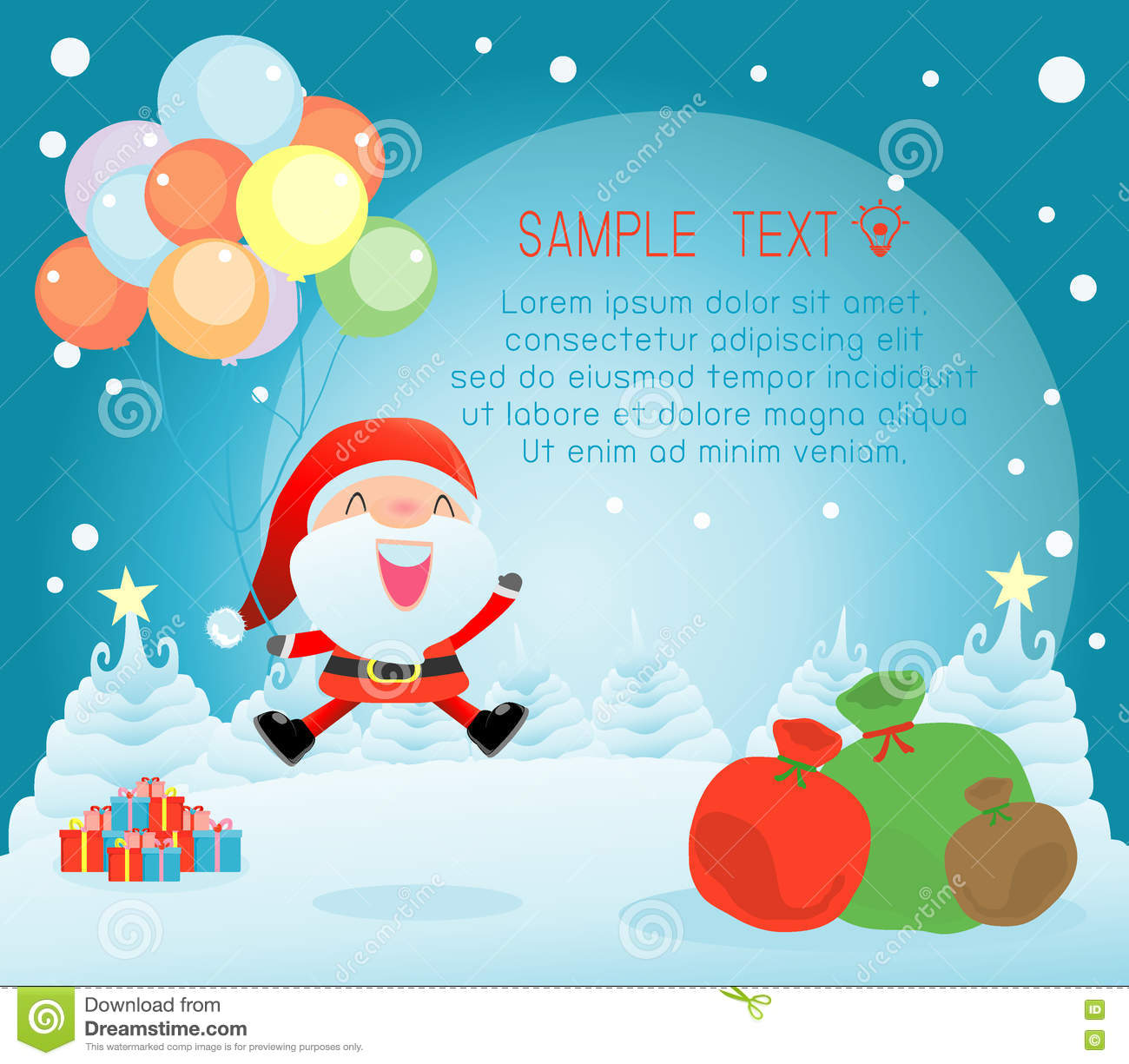 merry christmas happy new year merry christmas design with wide copy space santa
