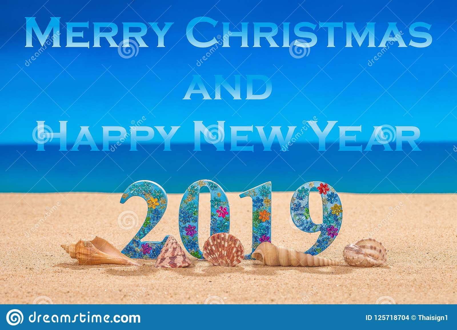 Merry Christmas And Happy New Year 2019 Stock Photo ...