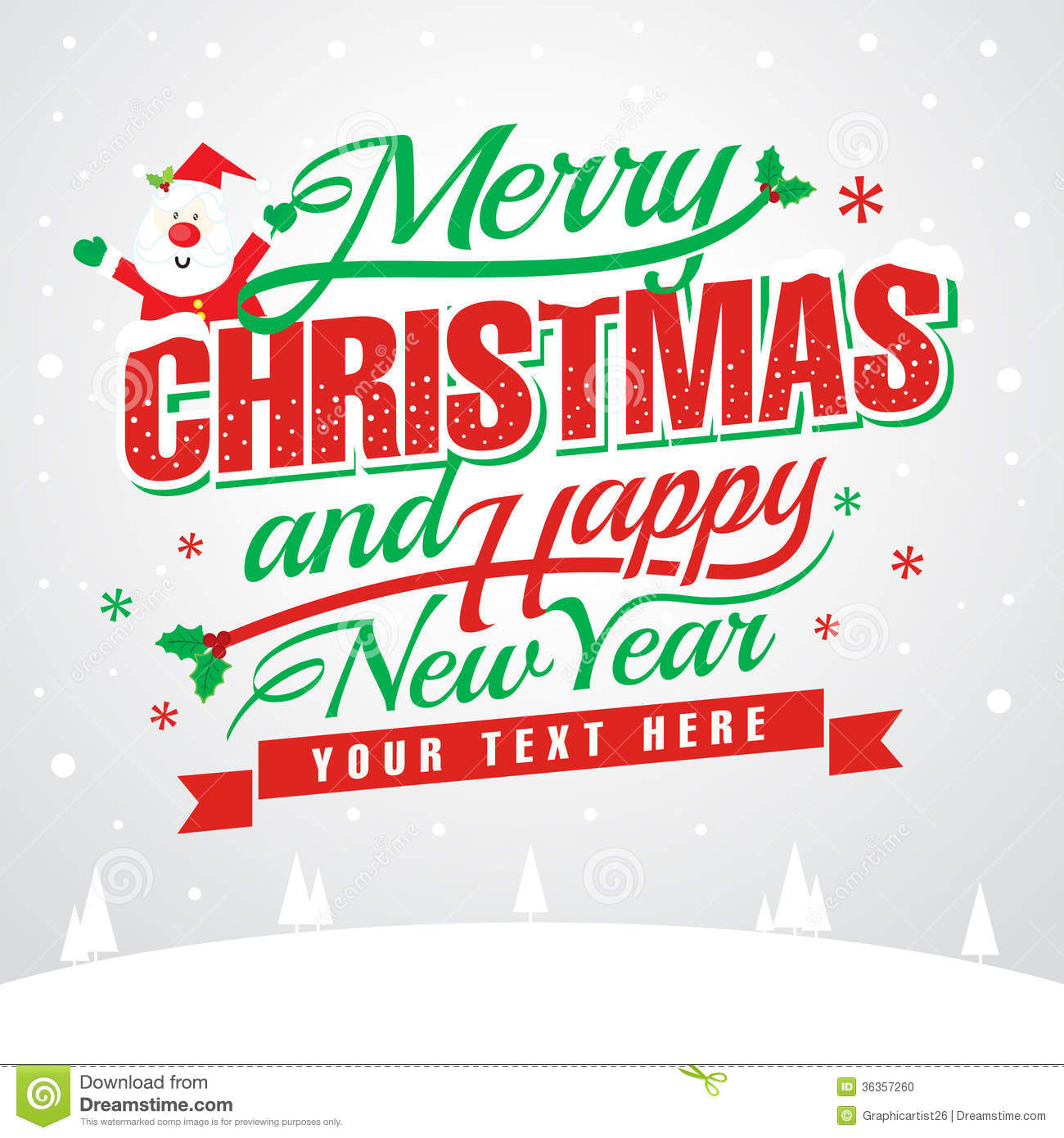 merry christmas and happy new year stock illustration illustration of placard design 36357260 dreamstime com