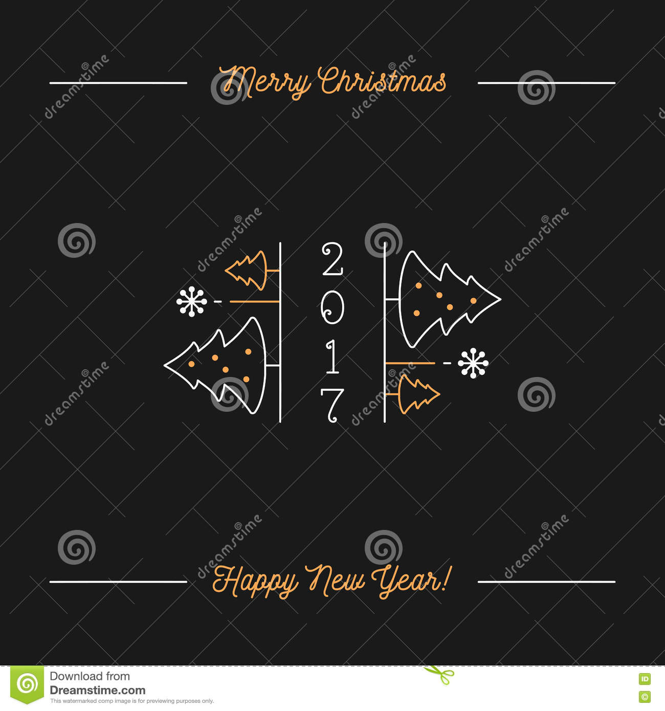 Merry christmas and happy new year minimalistic holiday greeting merry christmas and happy new year minimalistic holiday greeting card kristyandbryce Gallery