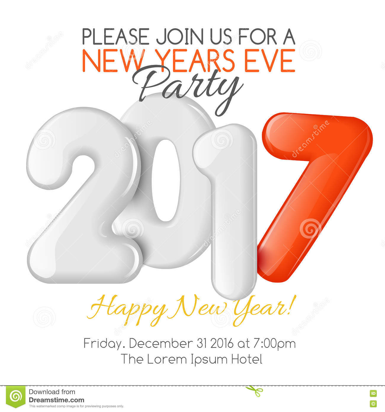 merry christmas and happy new year party invitation template merry christmas and happy new year 2017 party invitation template royalty stock photo