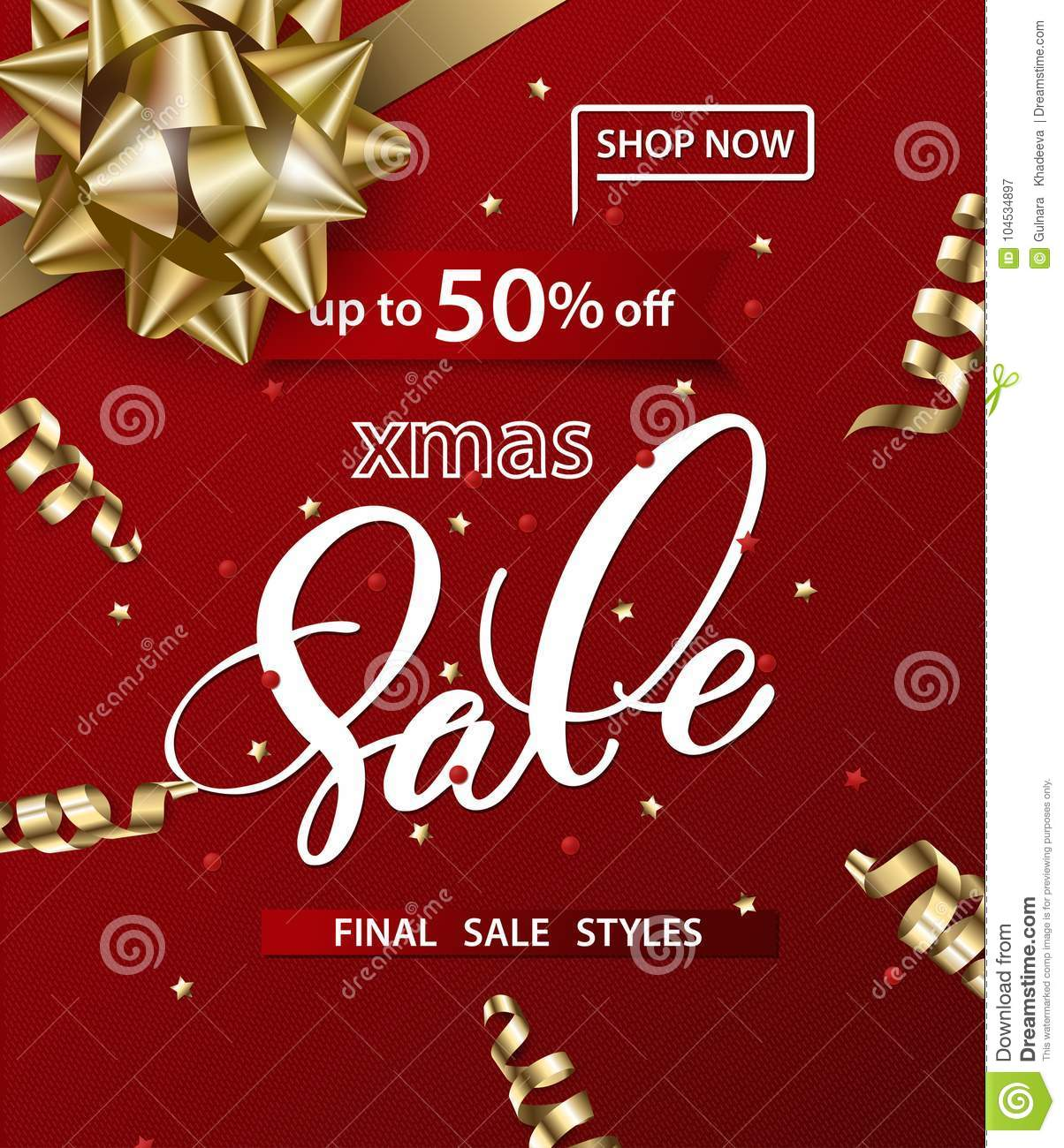download merry christmas and happy new year pattern of sales banners with christmas bow with decorations - Christmas Eve Sales