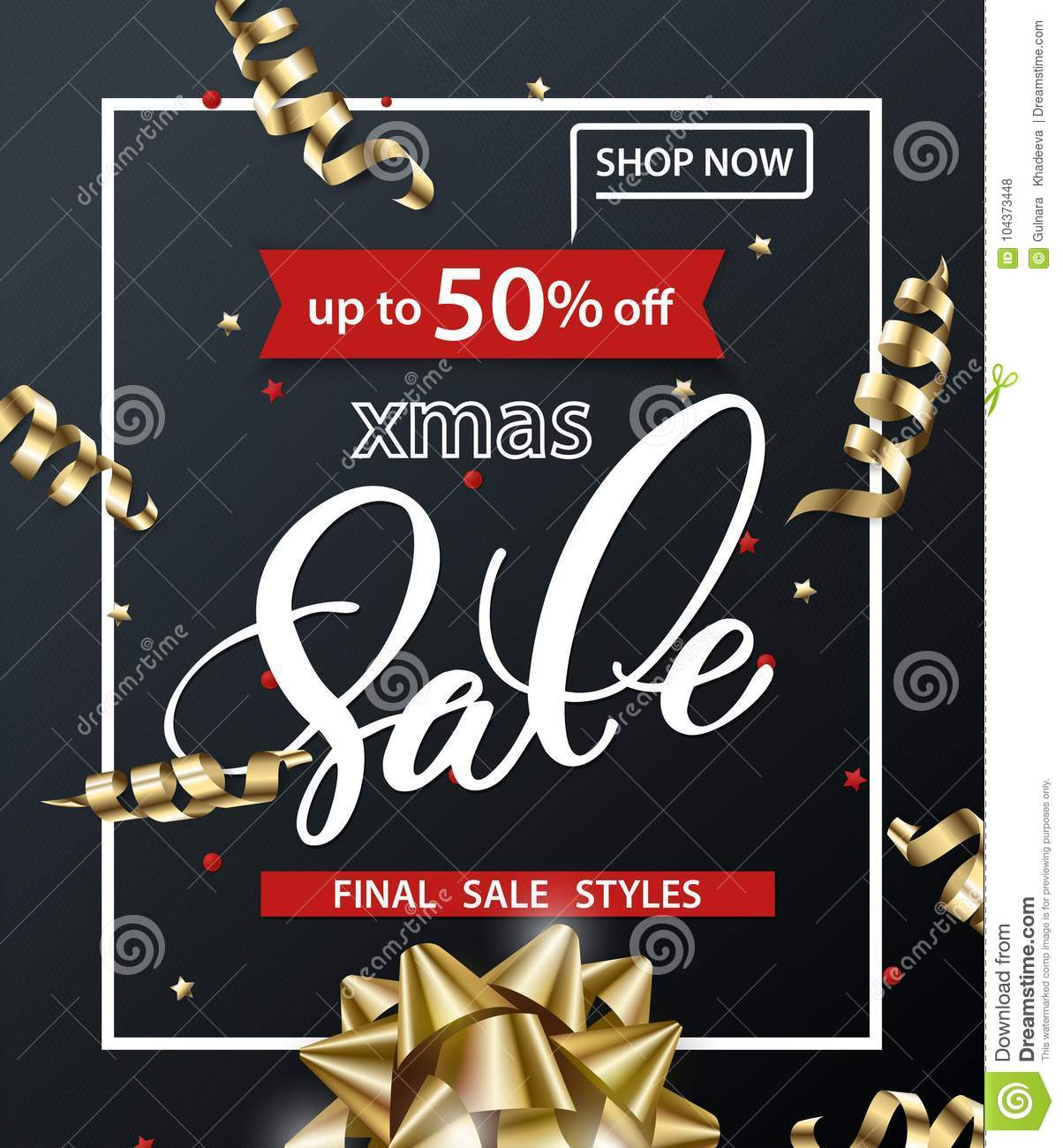 Merry Christmas And Happy New Year Pattern Of Sales ...