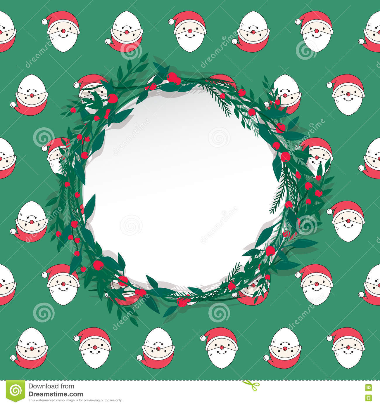 Merry Christmas And Happy New Year Postcard. Stock Vector ...