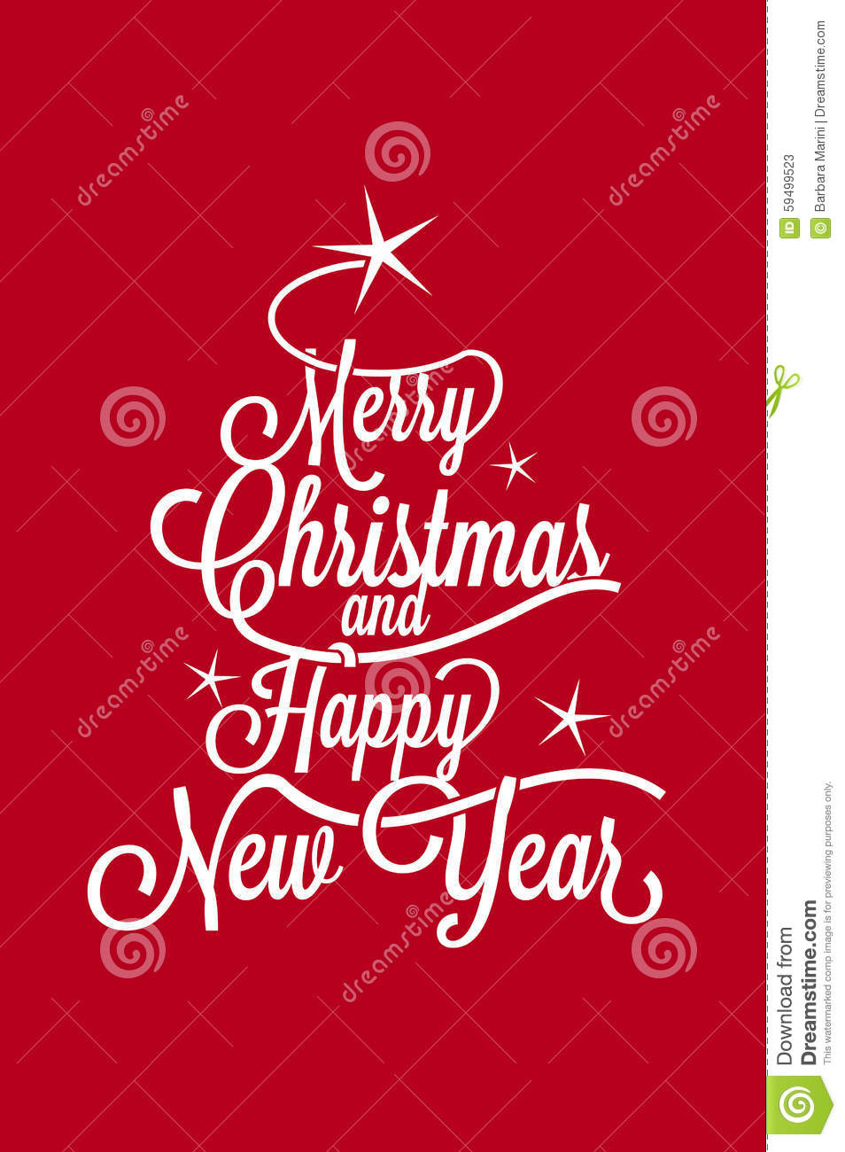 Merry Christmas And Happy New Year Postcard Stock Vector - Image ...