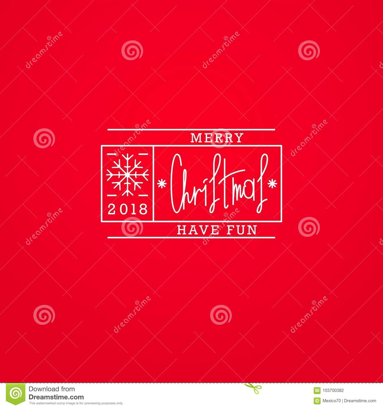 Merry Christmas And Happy New Year Stock Vector Illustration Of