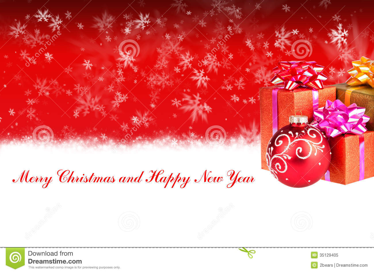 Merry christmas and happy new year red background with gifts stock merry christmas and happy new year red background with gifts negle Choice Image