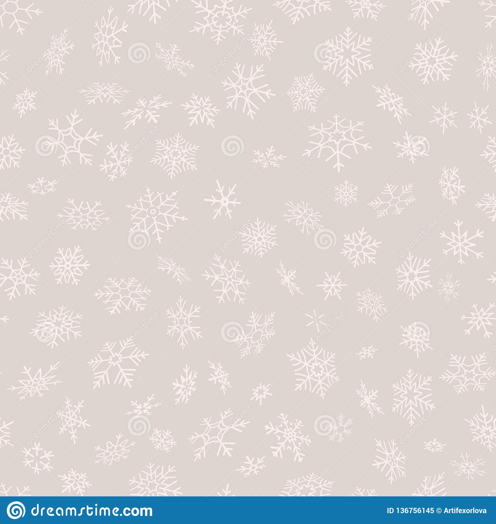 Merry Christmas and Happy New Year seamless snowflakes pattern. Perfect for wrapping paper or textile. EPS 10