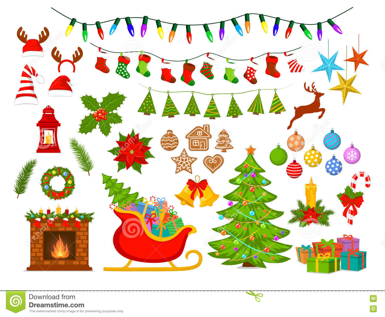 Merry Christmas And Happy New Year Seasonal Winter Xmas Decoration
