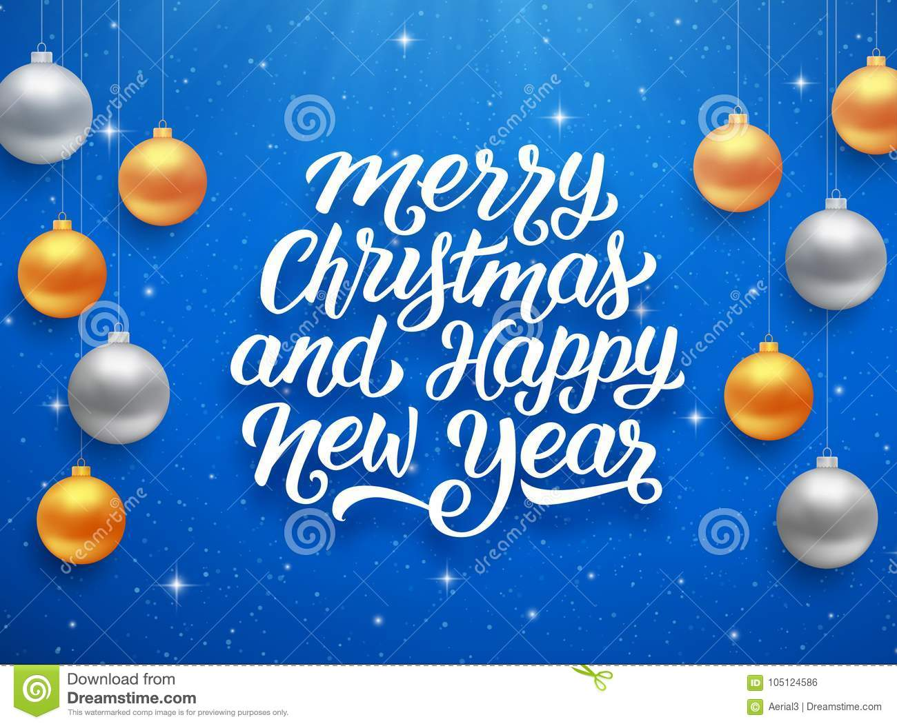 Happy new year and merry christmas vector card stock vector royalty free vector kristyandbryce Image collections