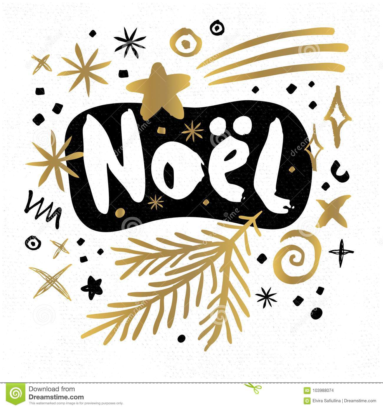 Merry Christmas Happy New Year Sketch Style Stock Illustration ...