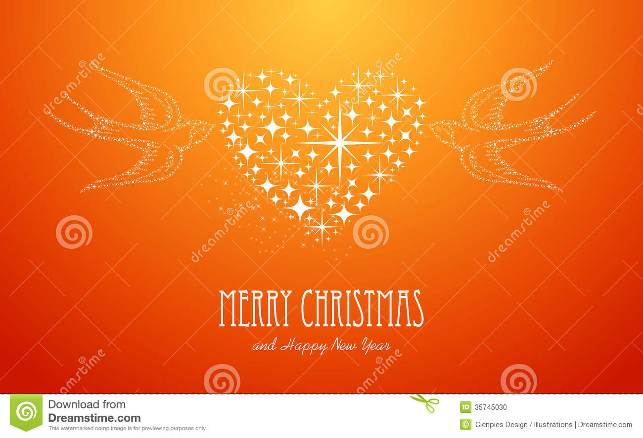 merry christmas and happy new year stars greeting