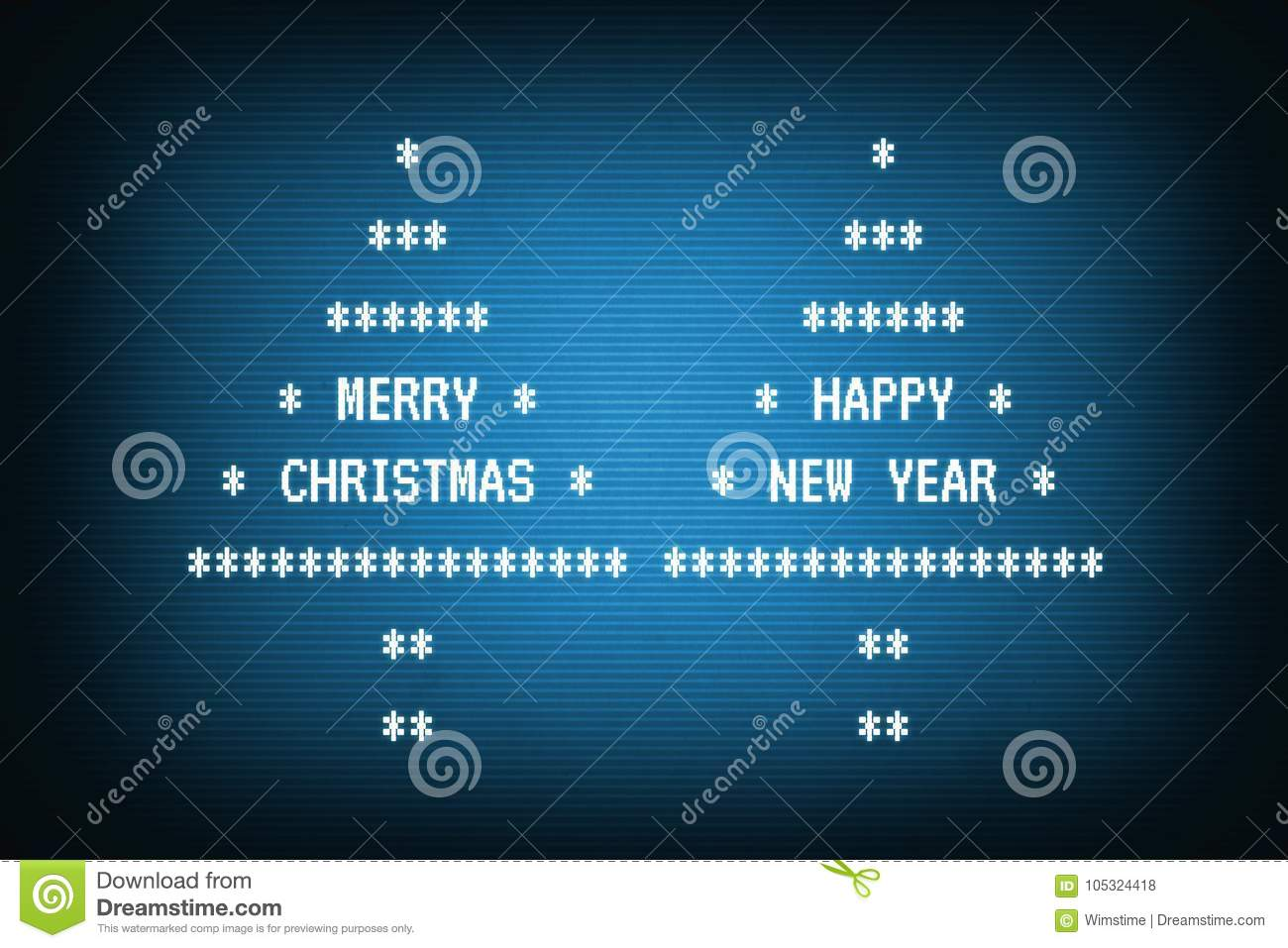 Merry Christmas And Happy New Year In Trees On Old Terminal Stock ...