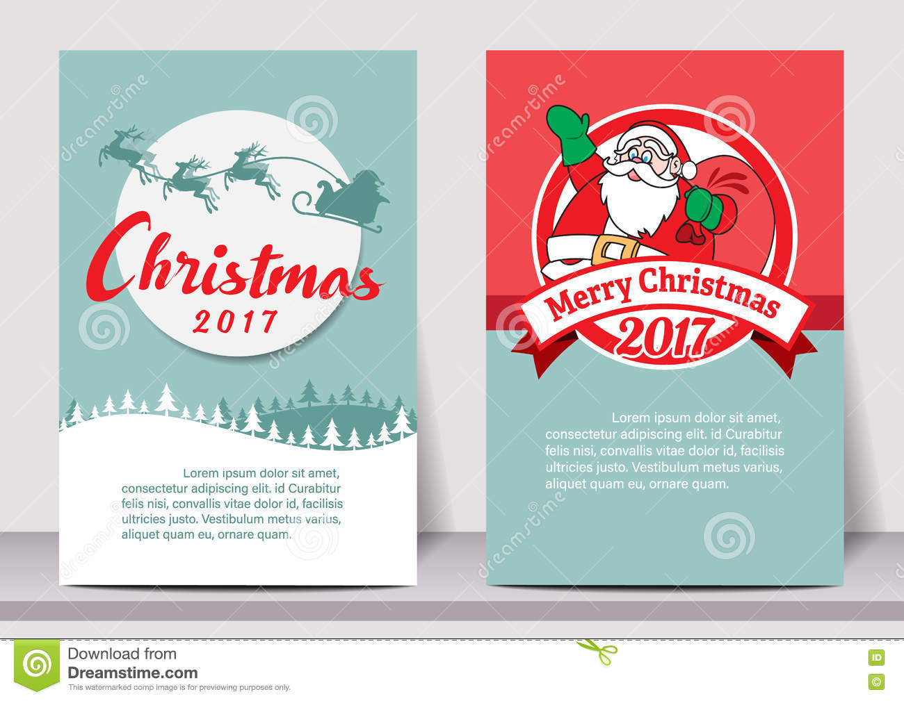 merry christmas happy new year typography flyer template with lettering greeting card poster