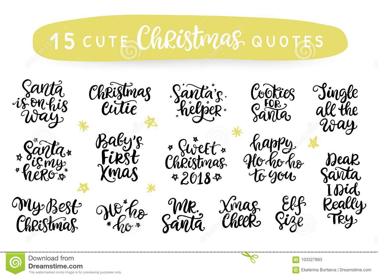 Merry Christmas. Happy New Year 2018. Typography Set Stock Vector ...