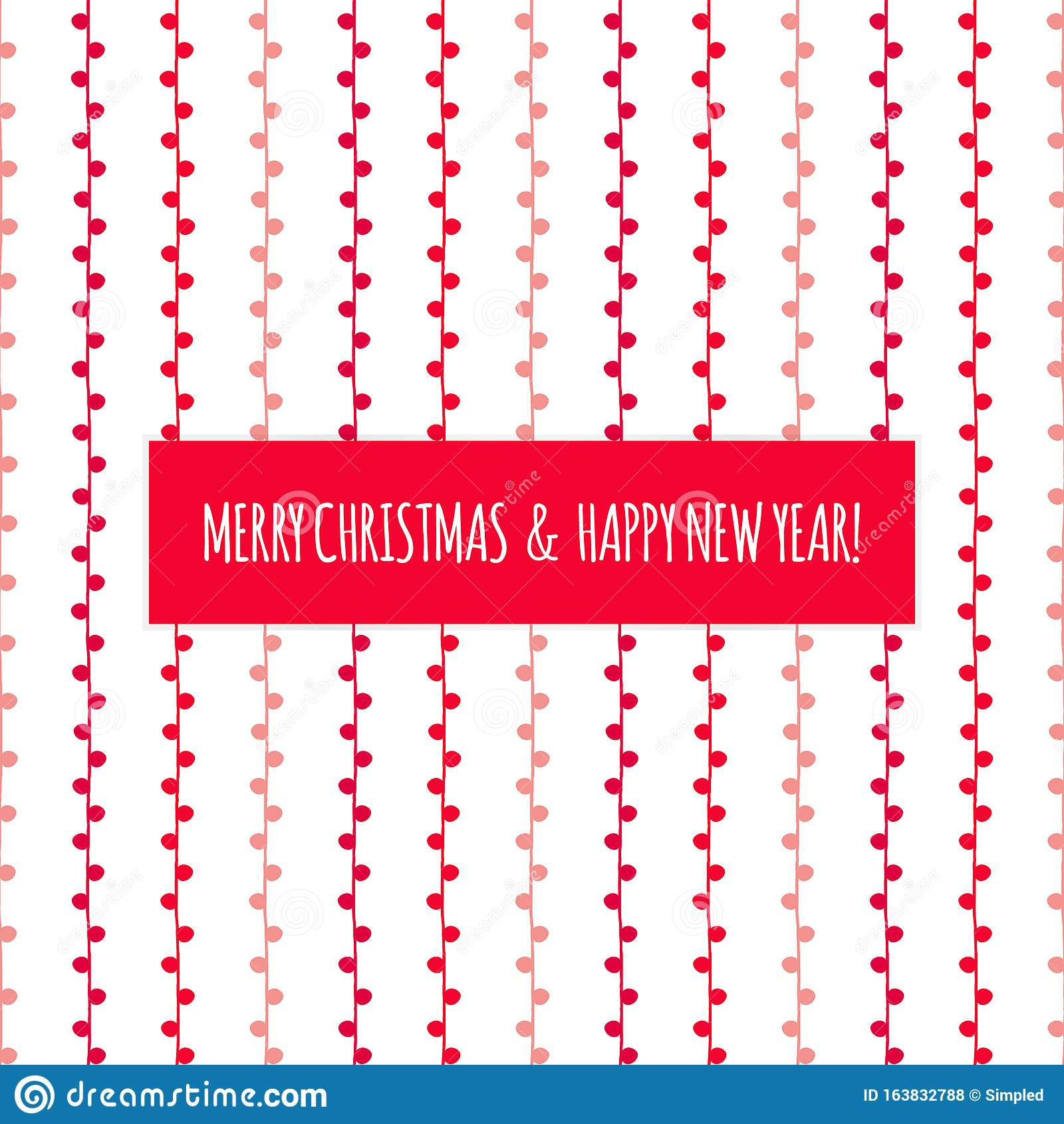 Merry Christmas And Happy New Year Vector Twig Pattern ...