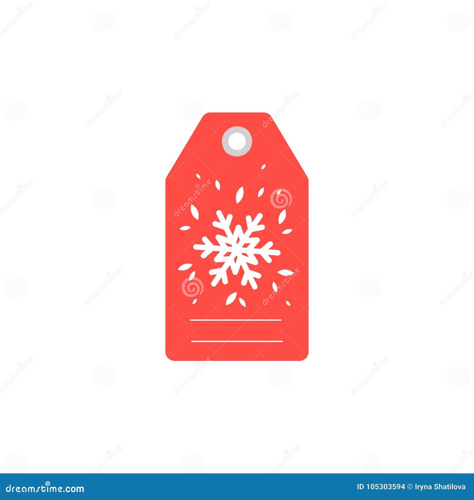 Christmas Gift Tag.Gift Tag For The Holiday Christmas Gift Tag With Snow