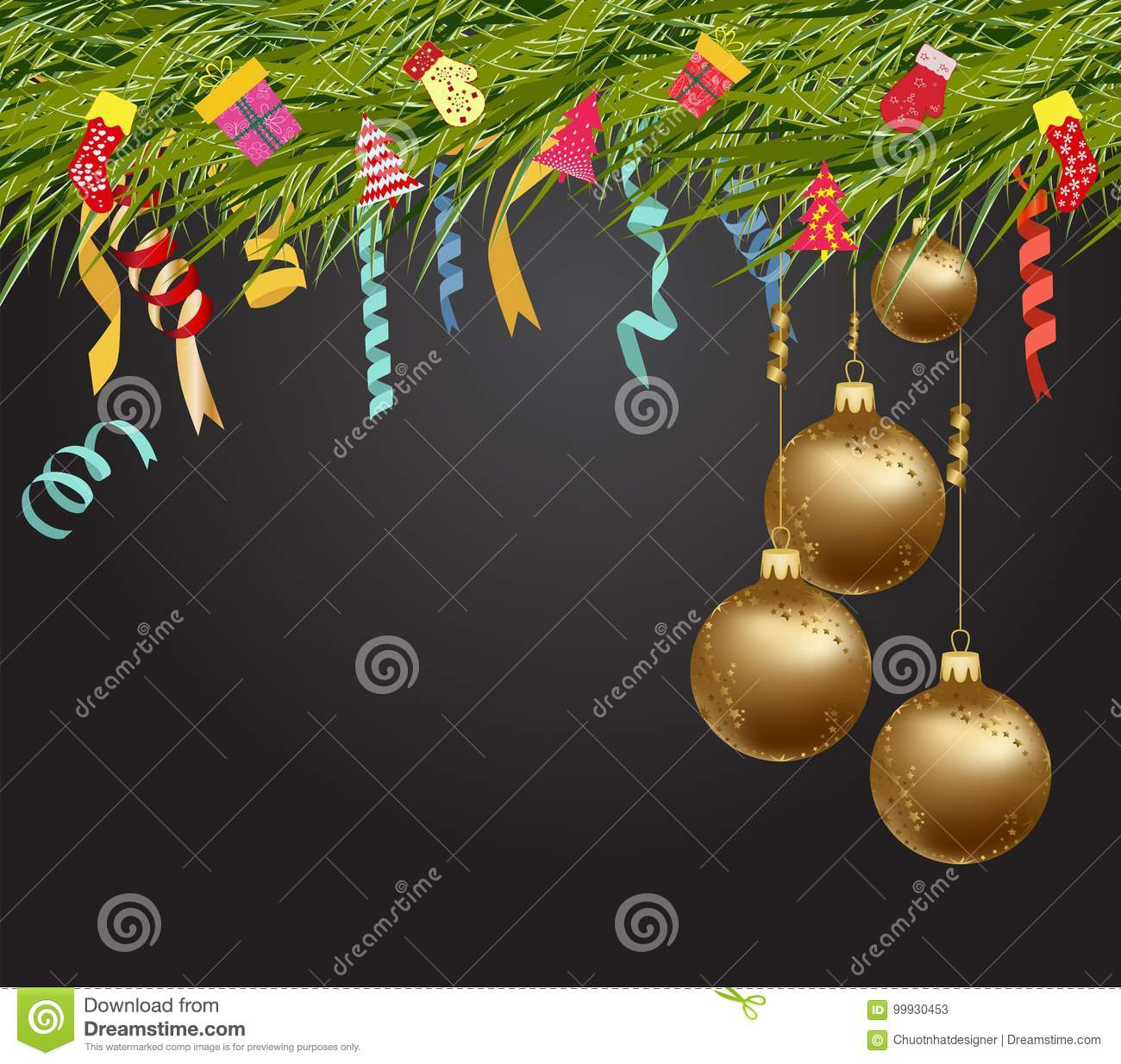 merry christmas and happy new year 2018 wallpaper balls gold download preview