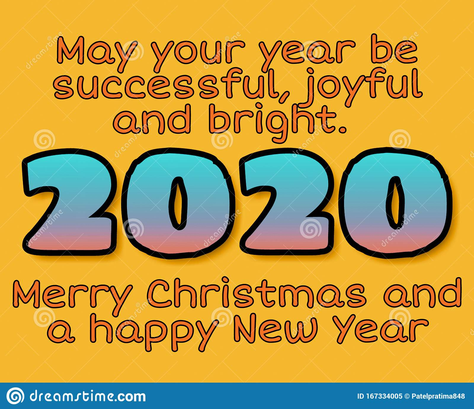 Merry Christmas And Happy New Year 2020 Wishes Greeting