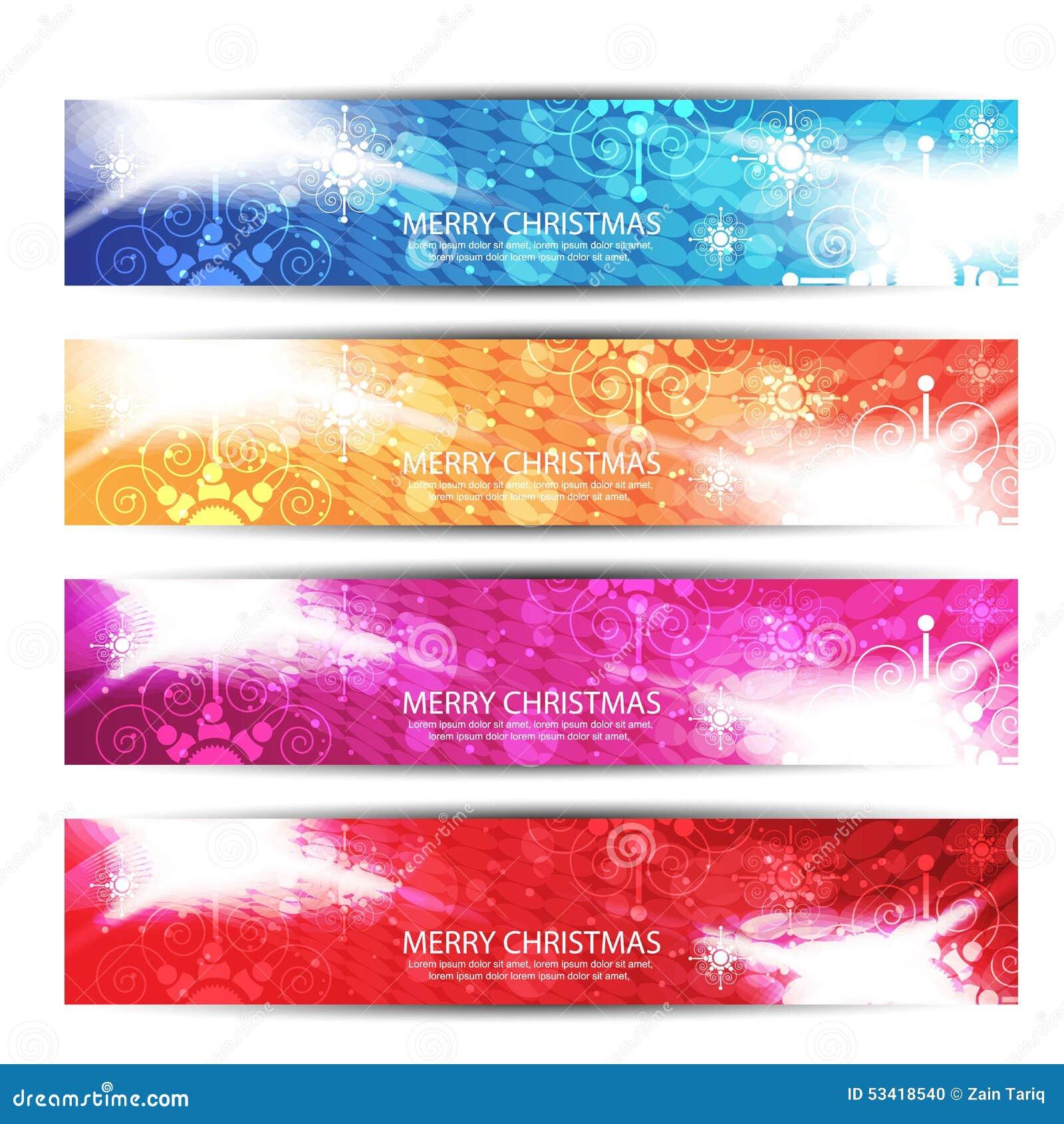 Merry Christmas Header Or Banner.vector Illustration 53418540 - Megapixl