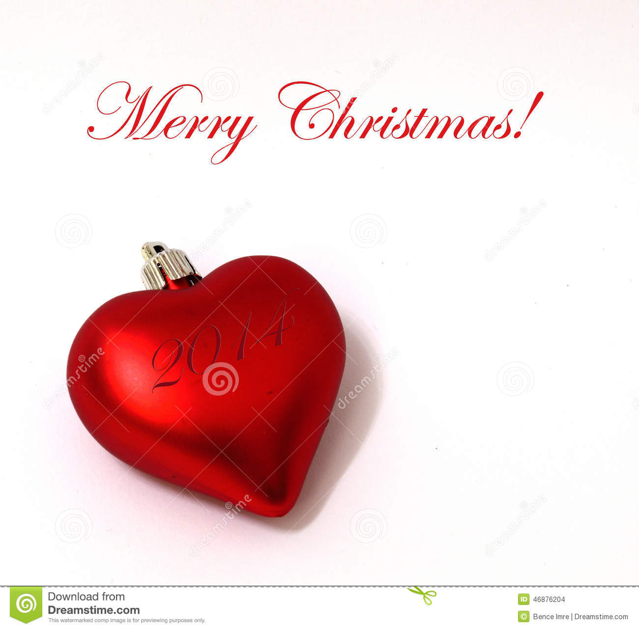 Merry Christmas Heart Ornament Stock Photo - Image of december ...