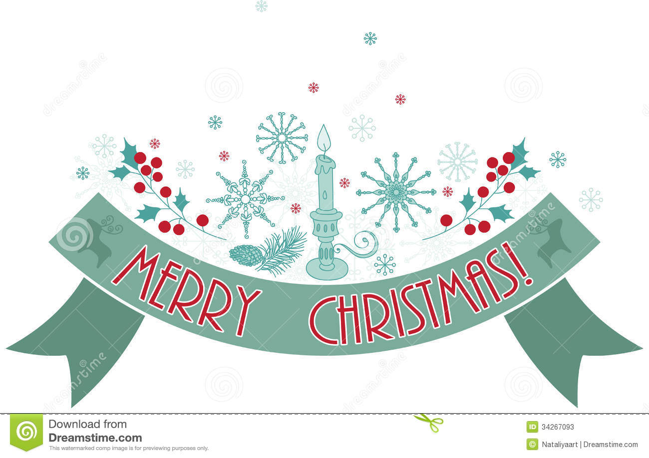 Merry christmas holiday banner stock vector illustration of card merry christmas holiday banner kristyandbryce Gallery