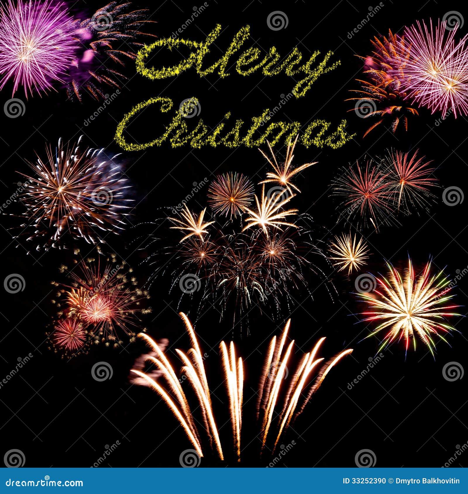 Merry Christmas Holiday Card Stock Photo - Image: 33252390