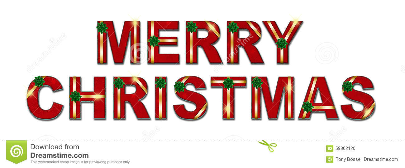 Merry Christmas Holiday Gift Text Background Stock Photo - Image of ...